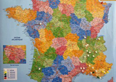 Carte des missions